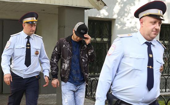 Абдувахоб Маджидов, устроивший гонки навнедорожнике Gelandewage, вГагаринском суде Москвы.26 мая 2016 года