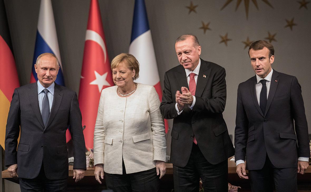 Владимир Путин, Ангела Меркель, Реджеп Тайип Эрдоган иЭмманюэльМакрон