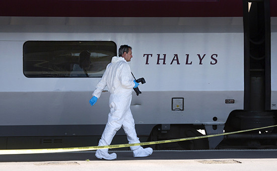 Судебно-медицинские эксперты расследуют теракт впоезде Амстердам—Париж