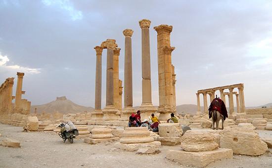 Исторический городПальмира в Сирии. Архивное фото