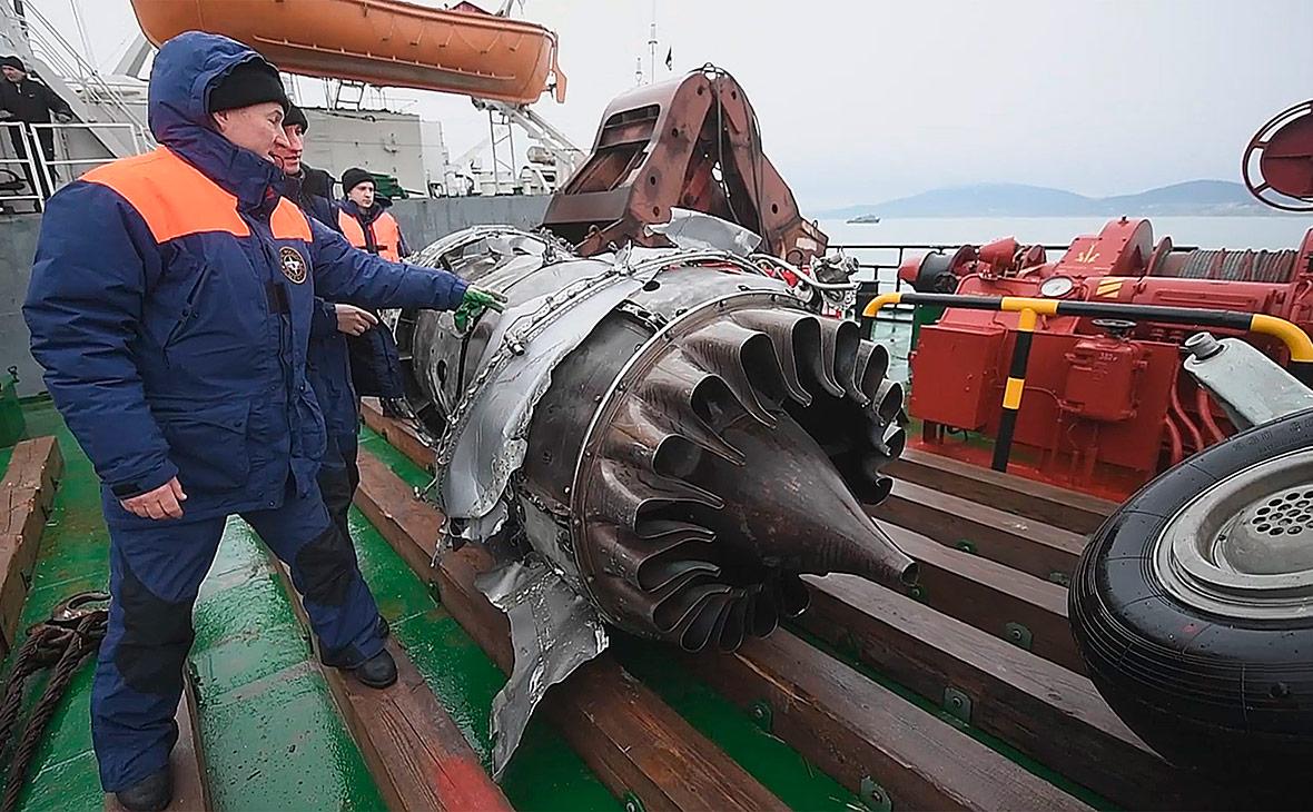 Обломки самолета Ту-154, потерпевшего крушение над Черным морем. Декабрь 2016 года