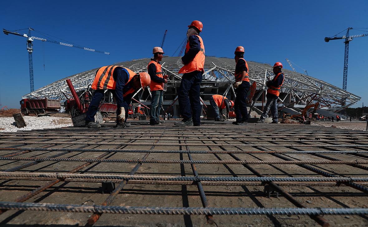 Строительство стадиона «Самара Арена». Август 2017 года