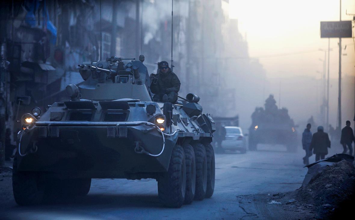 Российские военнослужащие в Сирии. Февраль 2017 года