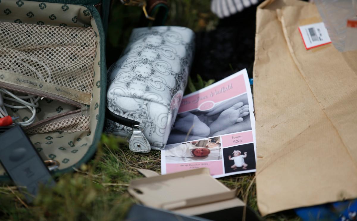 Вещи погибших пассажиров рейса MH17