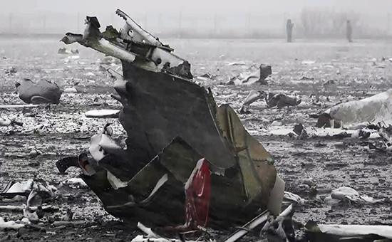 Место крушения пассажирского самолета Boeing 737-800 авиакомпании flydubai, следовавшего помаршруту Дубай—Ростов-на-Дону