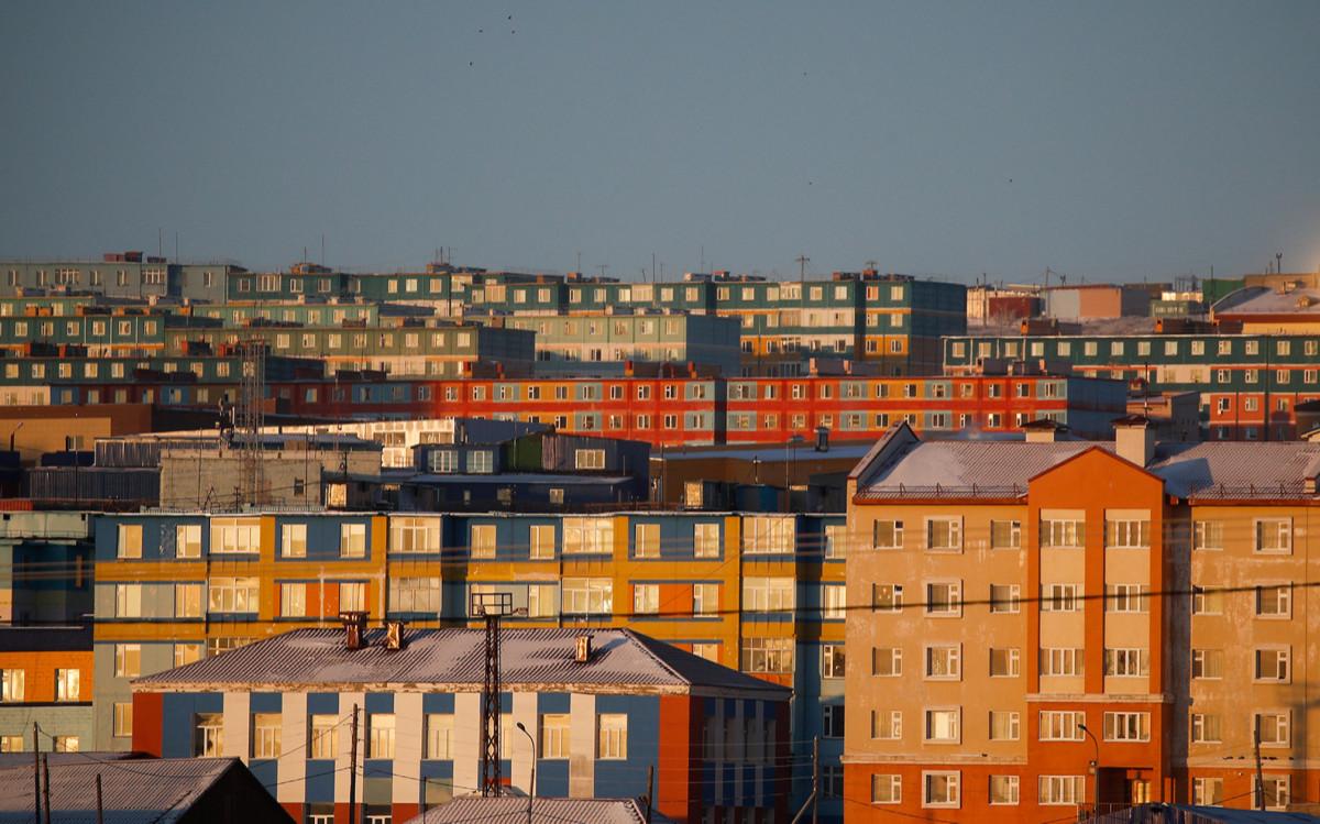 Город Анадырь на Чукотке