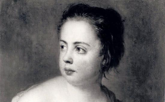 Картина художника Антуана Пэна «Девочка с голубем»