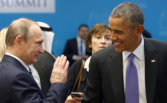 Президент России ВладимирПутини президент США Барак Обамана саммите G20 в Турции