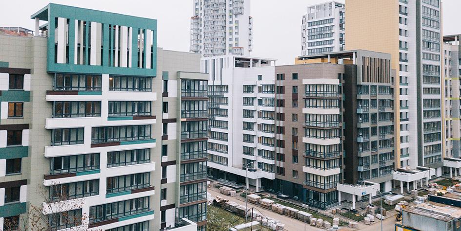 Квартал новостроек, предназначенный для переселения жителей по программе реновации