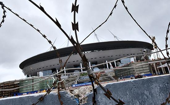 Строительство стадиона «Зенит-Арена», июль 2016 года