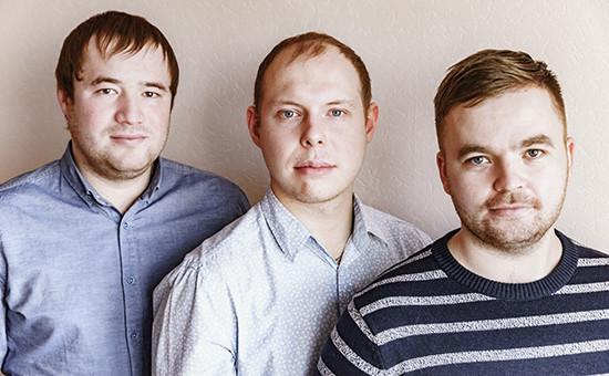 Предприниматели Михаил Пономарев, Филипп Червяков и Дмитрий Зыков (слева направо)