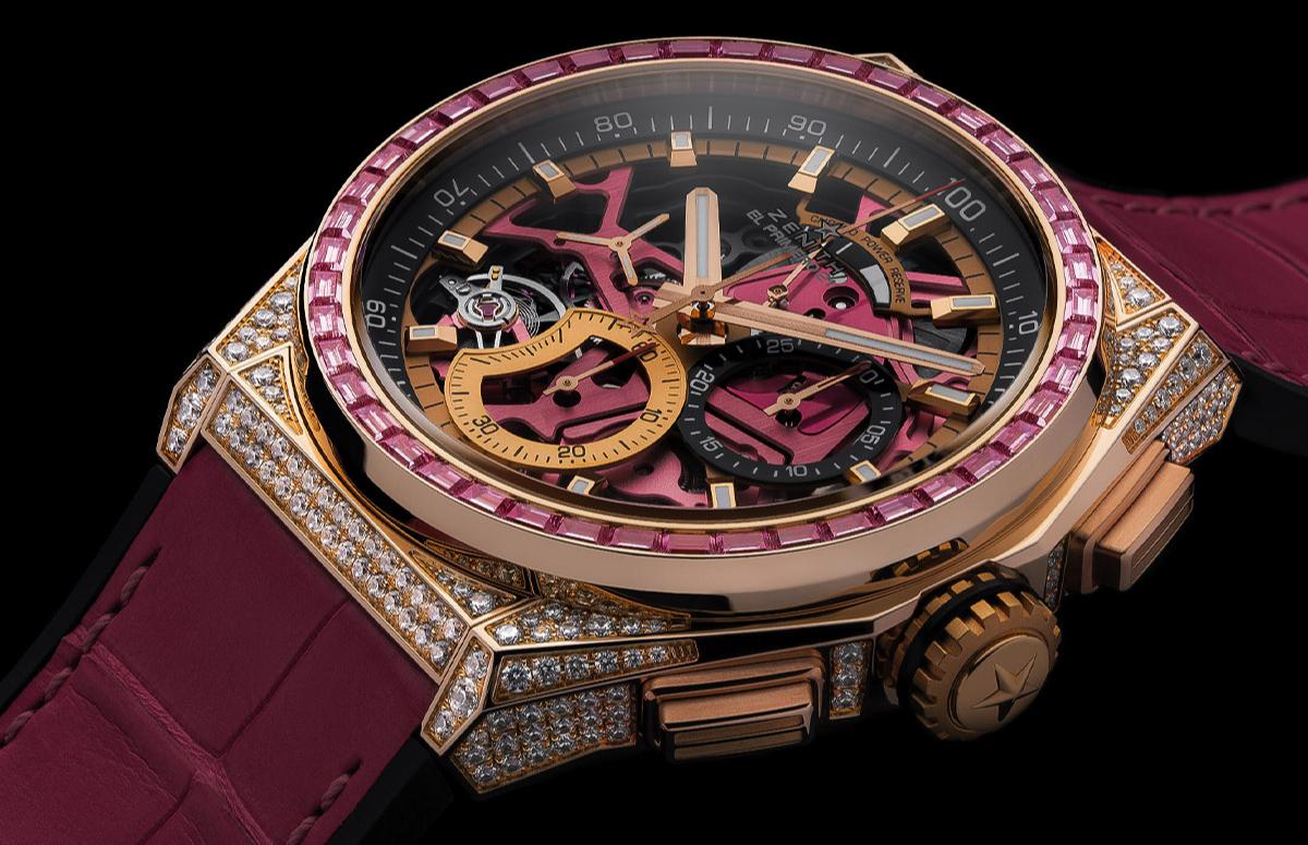 ЧасыDefy 21 Pink Edition, Zenith