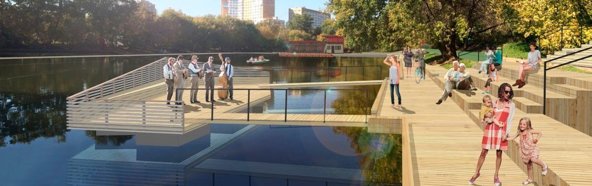 Проектное изображение одного из парков в Новой Москве