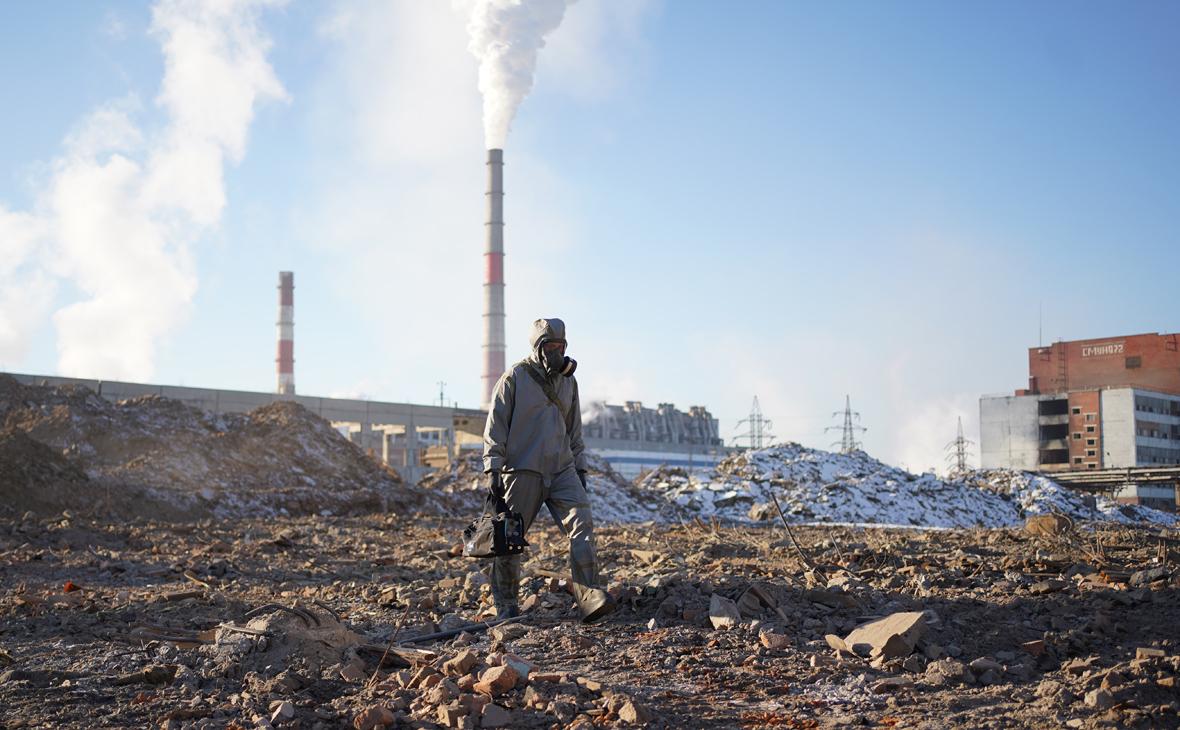 На территории бывшего химкомбината «Усольехимпром»