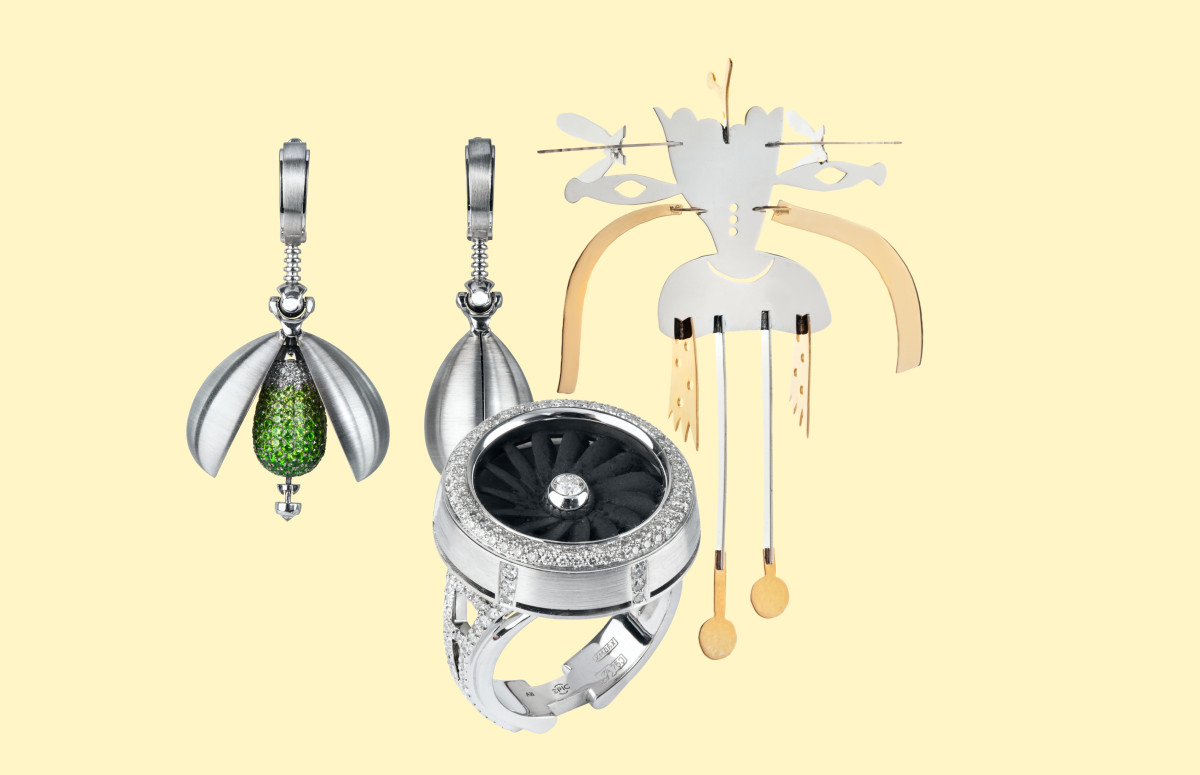 "Серьги ""Капли"", кольцо ""Турбина"", елочная игрушка, Epic Jewellery"