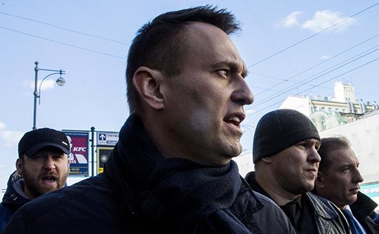 Алексей Навальный во время митинга против коррупции