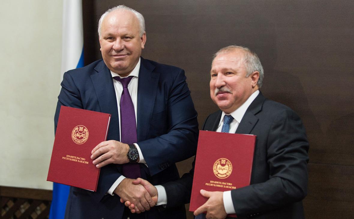 Виктор Зимин (слева),Эдуард Худайнатов (справа)