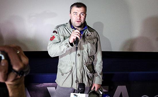 Актер Михаил Пореченков на презентации фильма «Поддубный» в Донецке