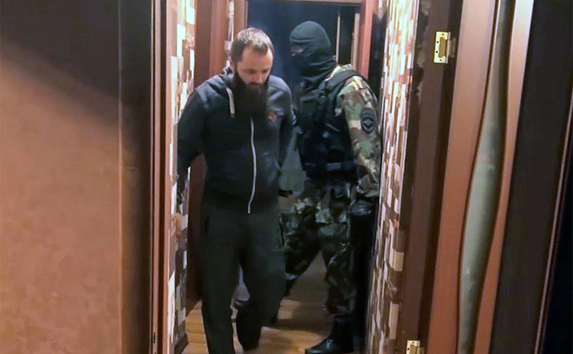 Александр Калинин во время задержания
