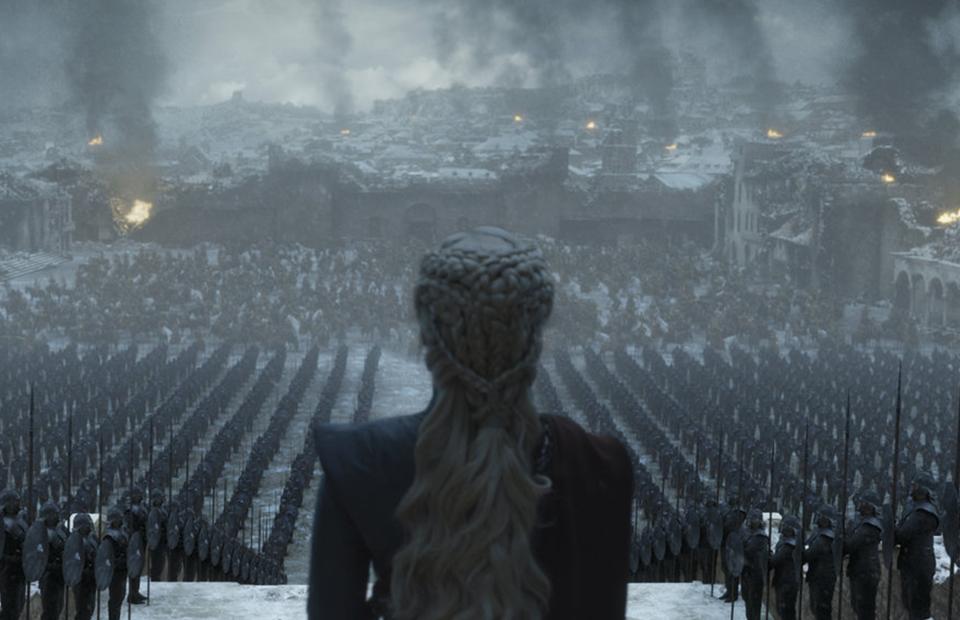 Кадр из финальной 6 серии 8 сезона «Игры престолов»