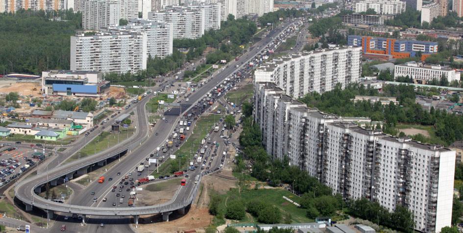 Вид на Варшавское шоссе