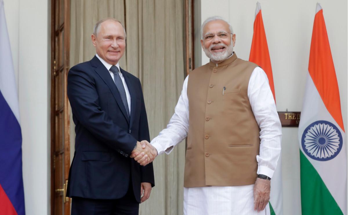 Владимир Путин иНарендра Моди