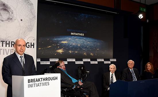 Совместная пресс-конференция Юрия Мильнера и Стивена Хокинга в Лондоне