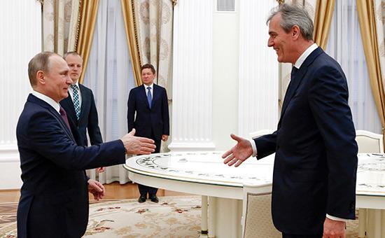 Владимир Путин и Райнер Зеле