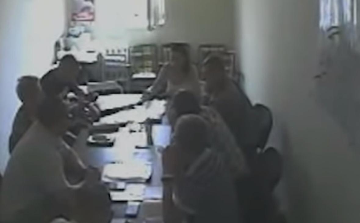 Стоп-кадр из видео белорусского СК «встреча Светланы Тихановской с доверенными лицами»