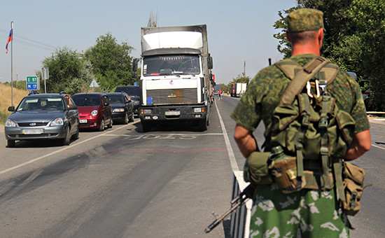 КПП на российско-украиской границе, август 2014 года