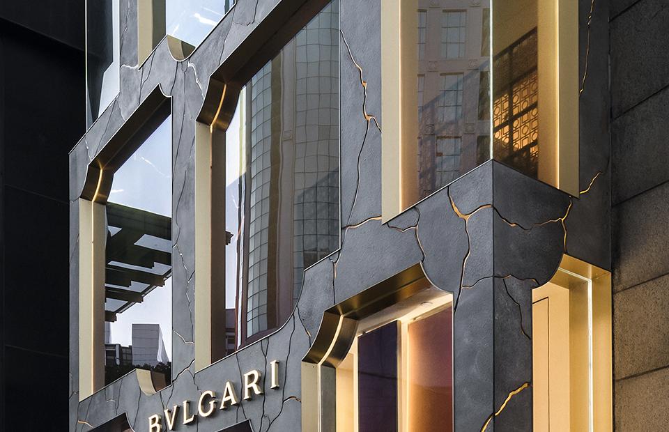 Фасад флагманского бутика Bvlgari в Куала-Лумпуре, дизайн бюро MVRDV