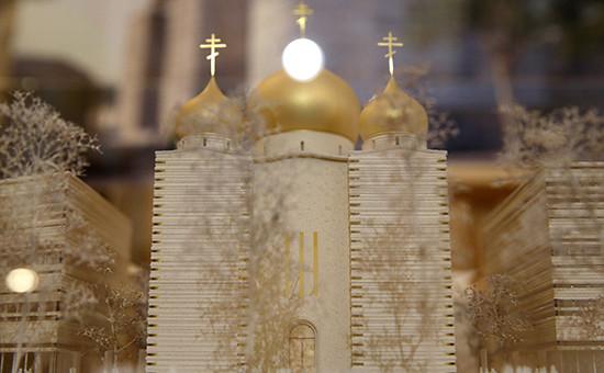Макет духовно-культурного православного центра