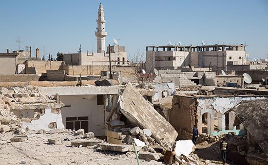 Вид на город Аазазв Сирии