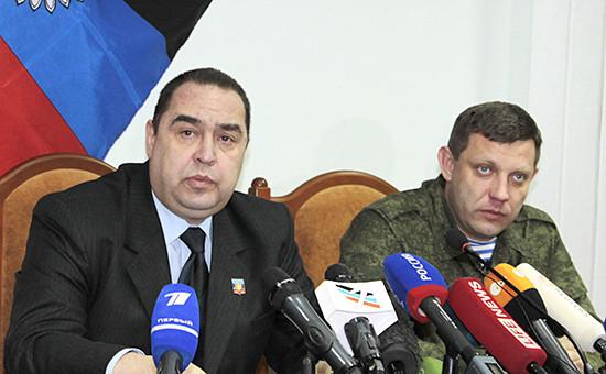 Глава ЛНР Игорь Плотницкий (слева) и ДНР Александр Захарченко