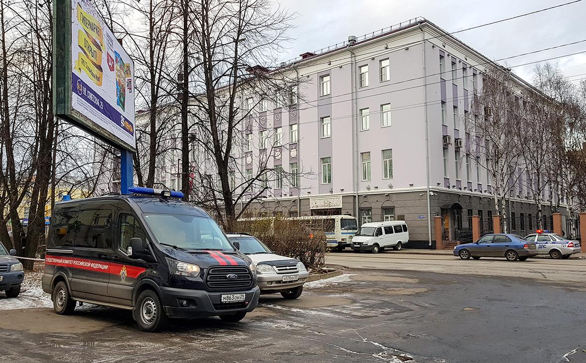 Здание управления ФСБ по Архангельской области, где произошел взрыв