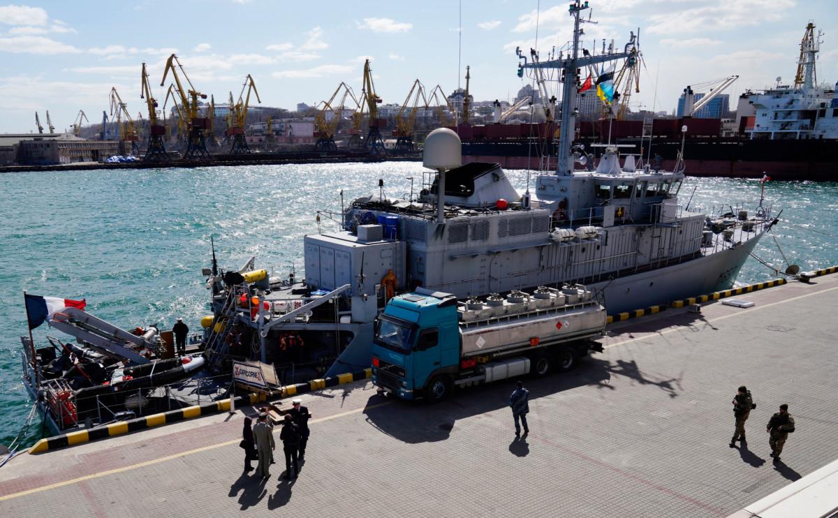 Корабль НАТО Capricorne ВМС Франции в Одессе