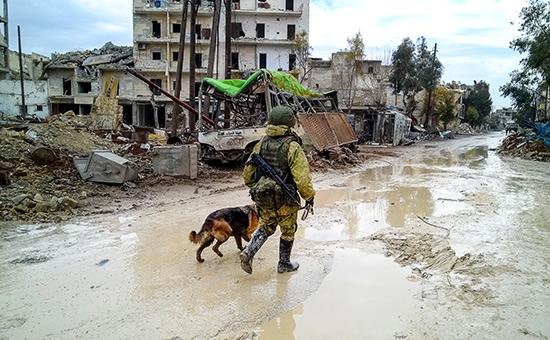 Российский солдат вСирии