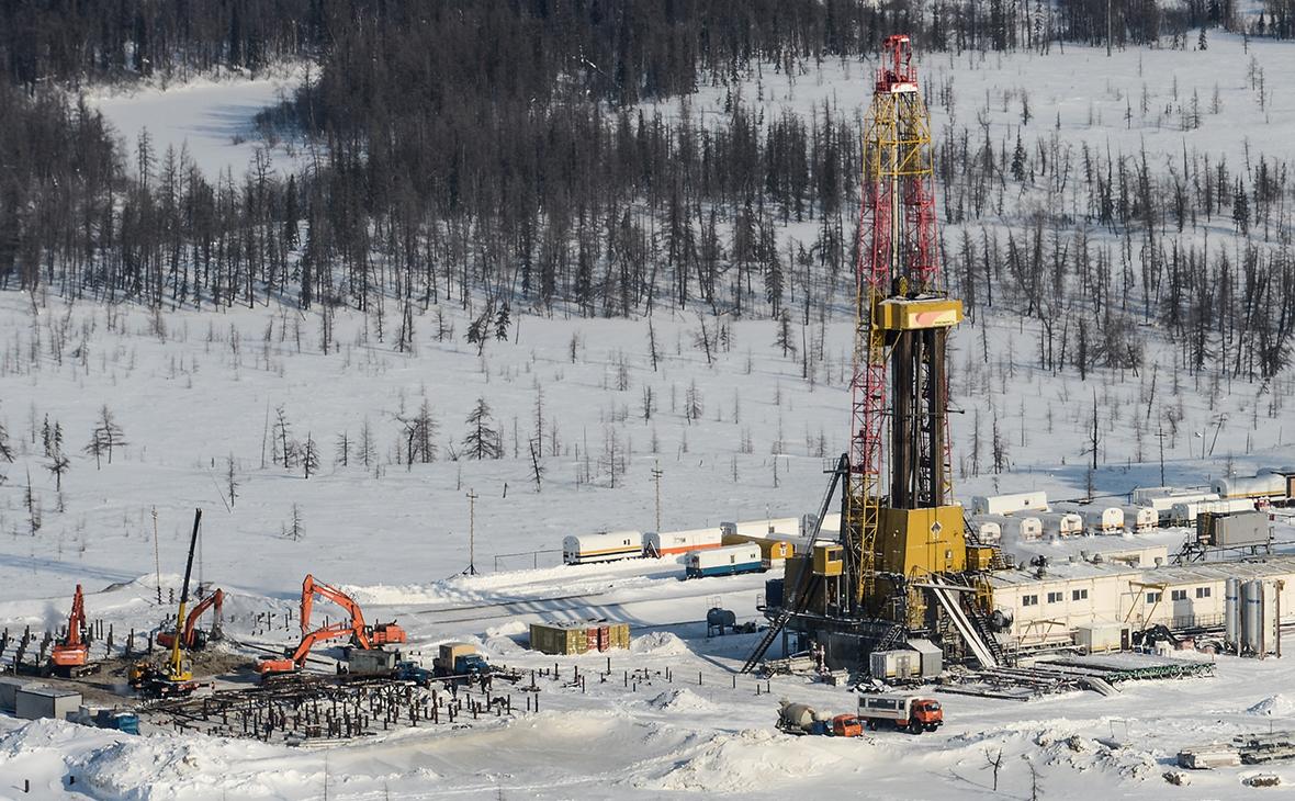 Вид Ванкорского нефтегазового месторождения