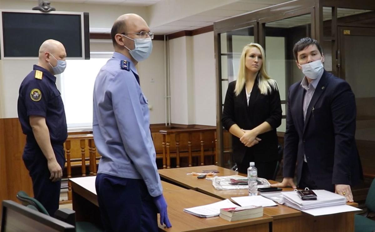 Анастасия Васильева во время судебного заседания