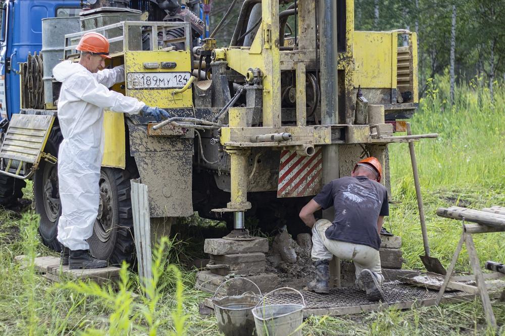 Проведение работ на площадке строительства ЦКП «СКИФ»