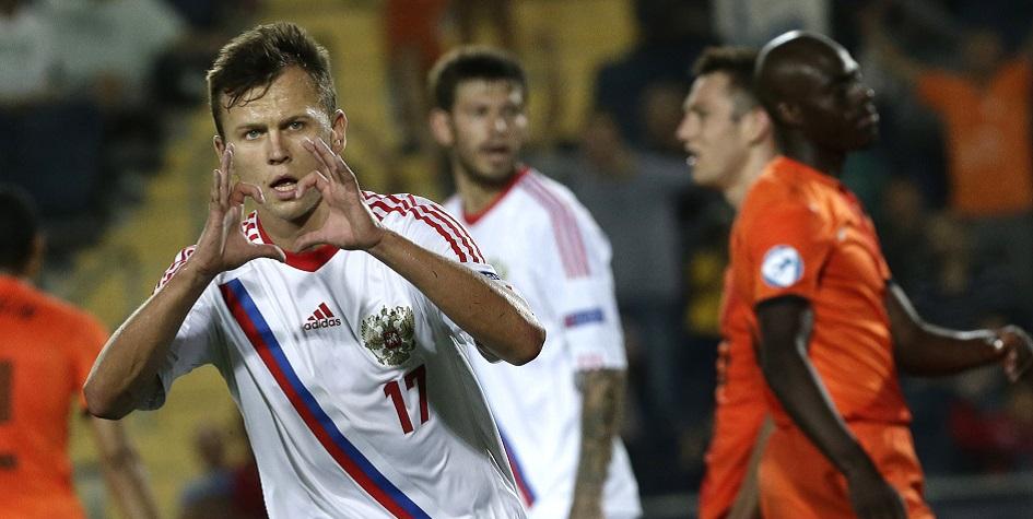 Футболист молодежной сборной России Денис Черышев