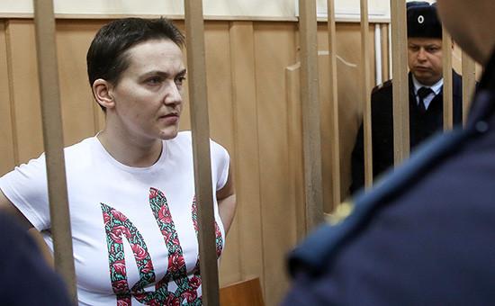 Украинская летчица Надежда Савченко в Басманном суде