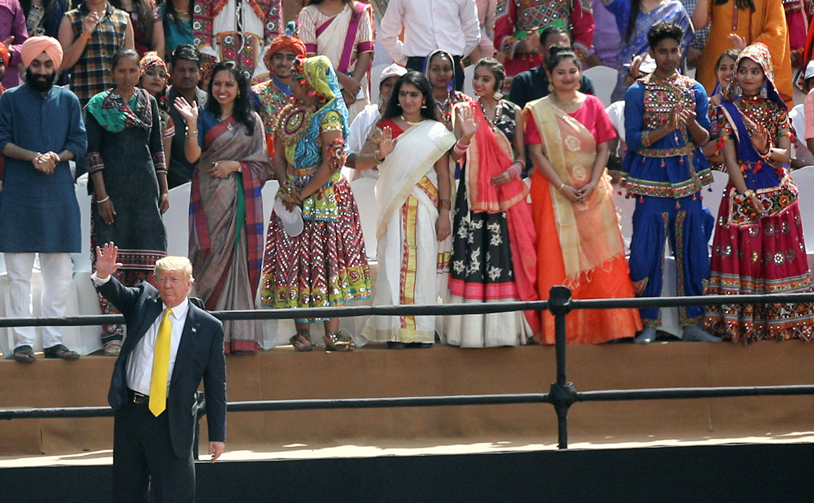 Дональд Трамп во время визита в Индию