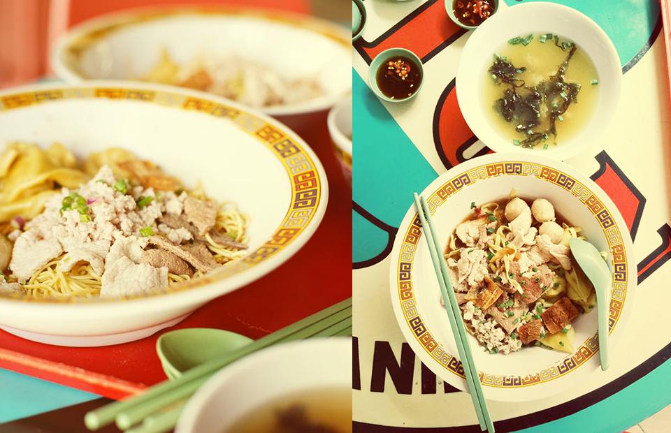 Традиционная яичная лапша со свиным фаршем из закусочной Hill Street Tai Hwa Pork Noodle