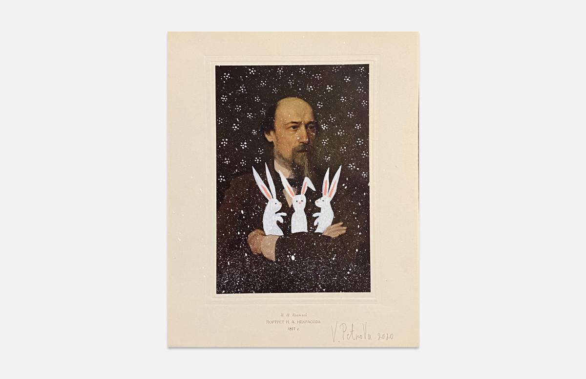Петрова Вера, И.Н. Крамской портрет Н.Н. Некрасова, 1877 (из серии Коллаборация), 2020