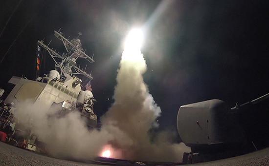 Пуск крылатых ракет «Томагавк»