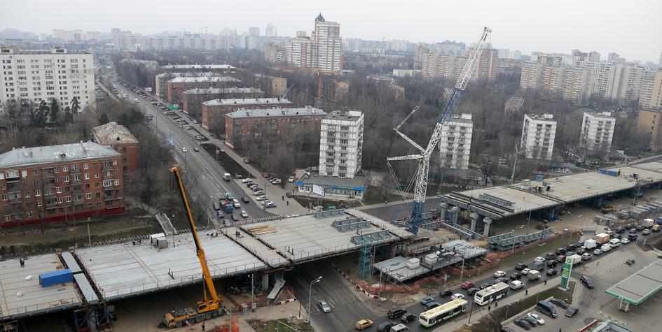 Вид наМожайское шоссе вЗападном административном округе Москвы