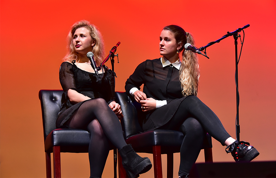 Участницы группы Pussy Riot Мария Алехина и Ксения Живаго