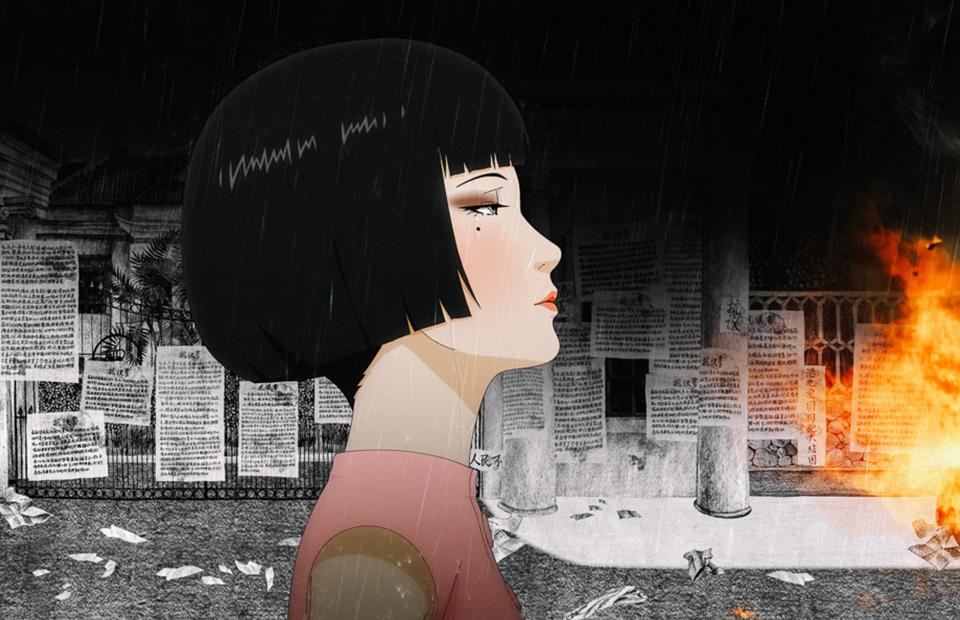 Кадр из анимационной картины «Вишневый переулок, 7»