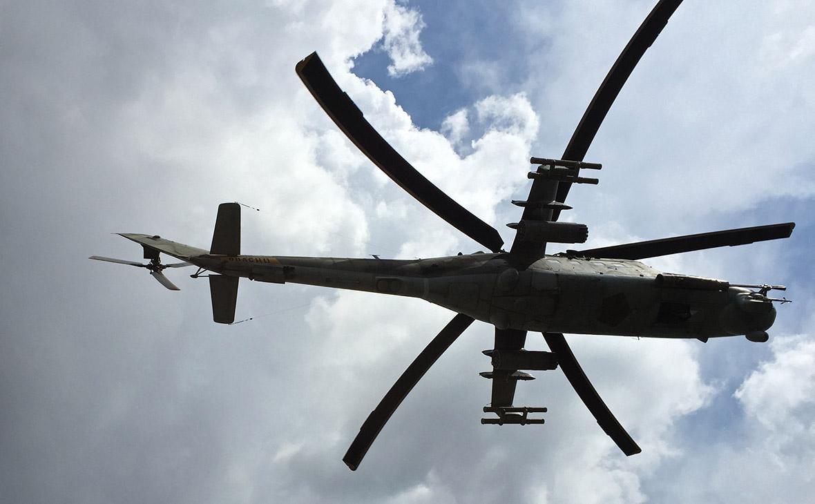 Российский ударный вертолет Ми-24. Сирия. Архив